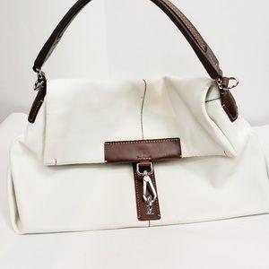 TUMI white lenght handbag white brown